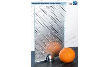 Зеркальное полотно Лабиринт (глянец) серебро фото